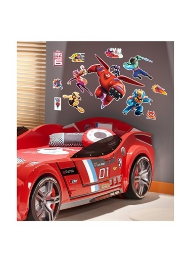 Disney 6 Süper Kahraman 48X68 Cm Duvar Sticker Renkli